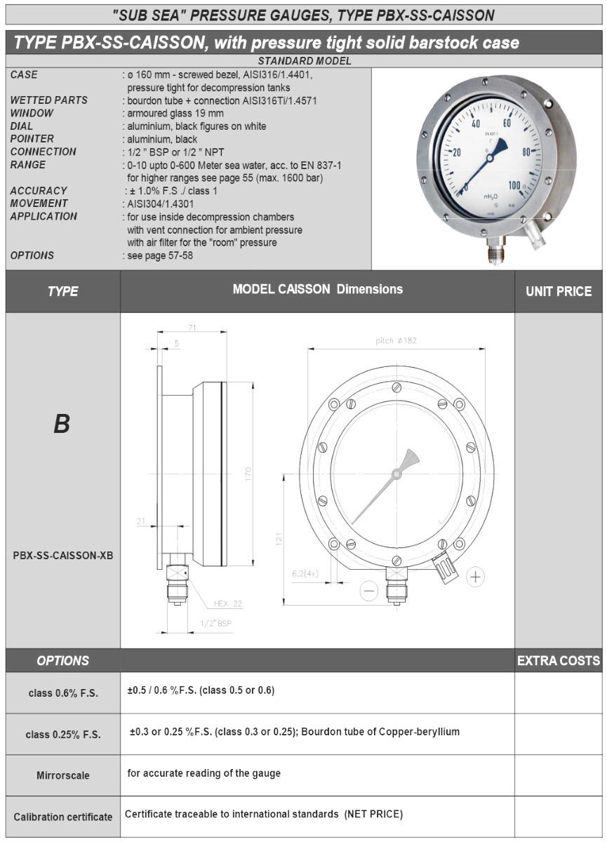 PBX-SS-CAISSON pressure tight solid barstock case